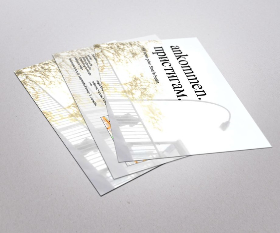 Flyer Taschengeldfirma Ankommen