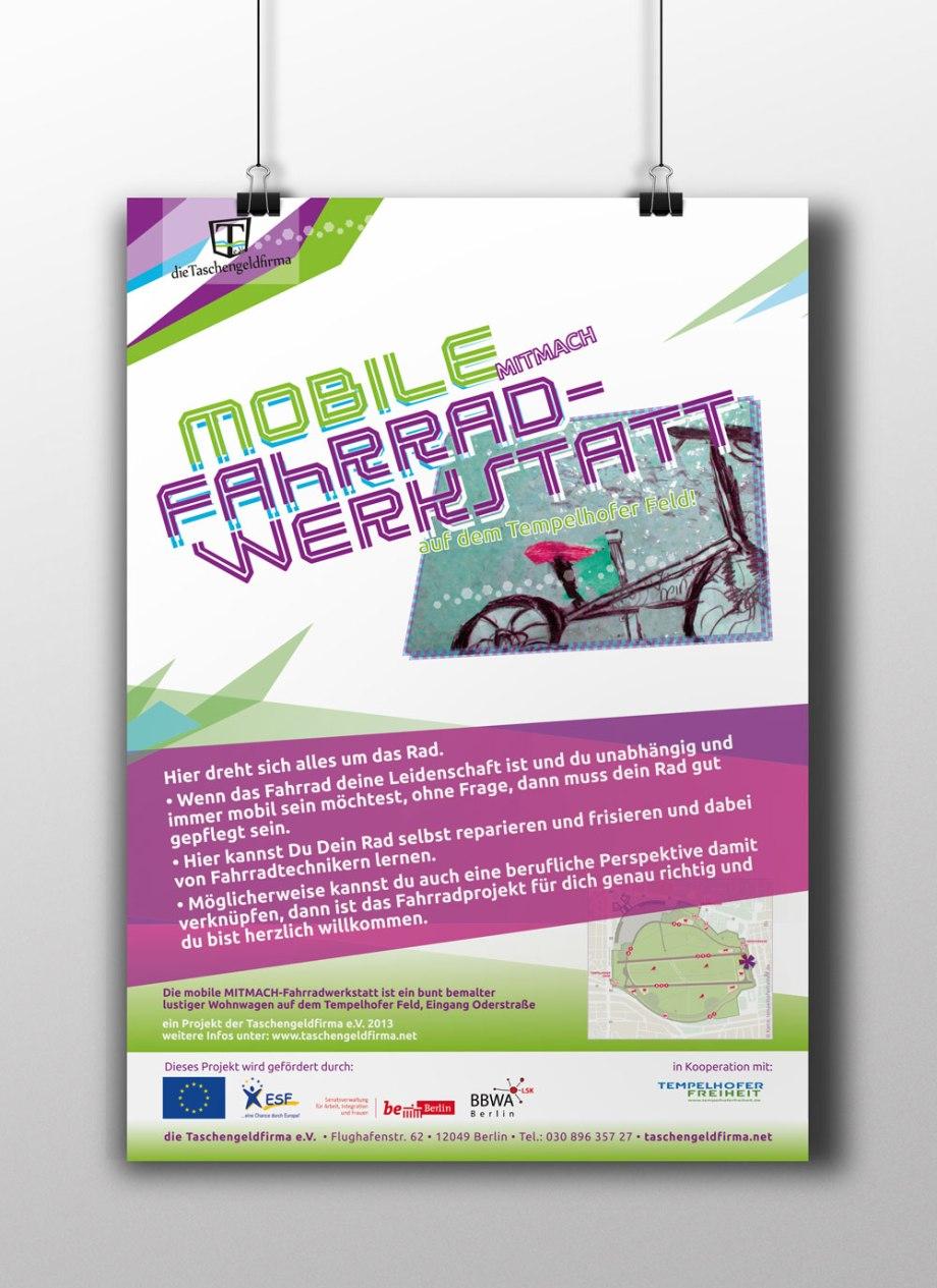 Taschengeldfirma Fahrradwerkstatt Poster 2013